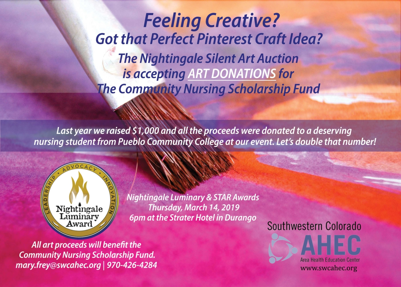 Art-Auction-flyer-Donate-Art-with event date