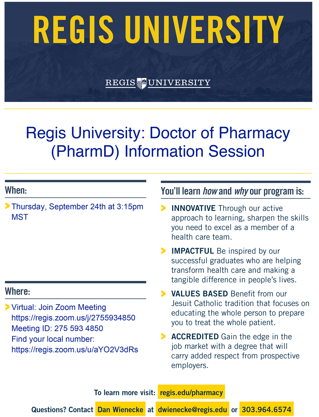 Flier_Regis-University_Pharmacy-Info-Session_9.24.2020