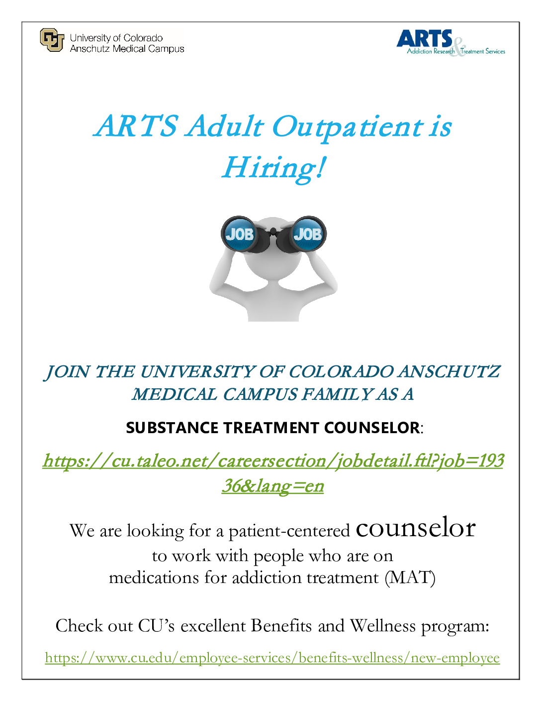 ARTS SUD Counselor Announcement