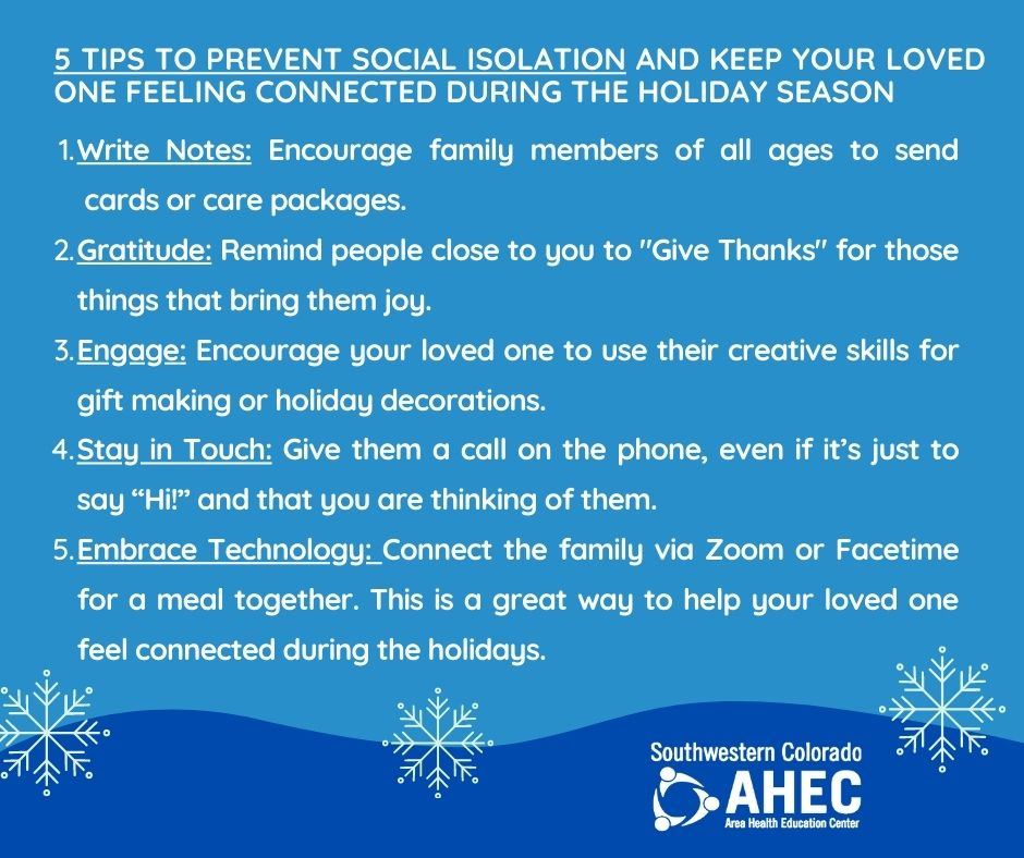 5 Tips to prevent social isolation