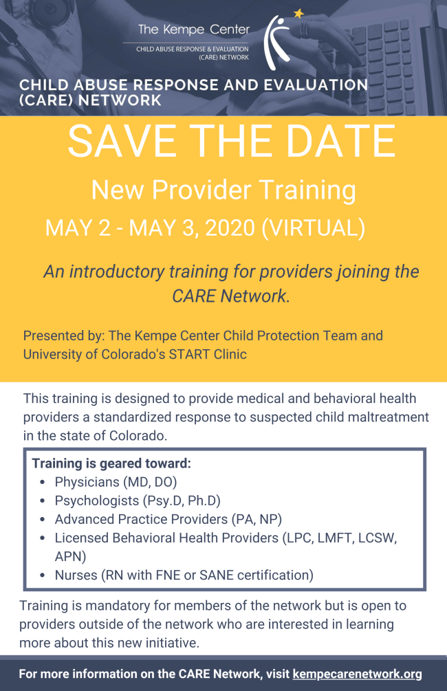SAVE THE DATE_CARE NETWORK NP TRAINING 2021